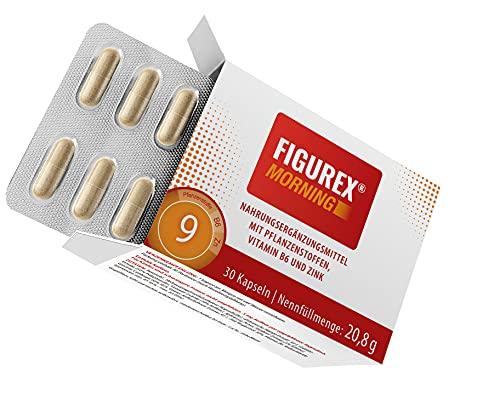 FIGUREX Morning Keto Burn Stoffwechsel-Kur Kapseln mit Koffein - 9-fach starke Power-Formel gegen Müdigkeit mit Vitaminen und Pflanzenstoffen, 30 Kapseln