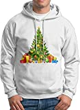 Dazzle Sweater Men's Sweat à Capuche personnalisé Christmas Tree Presents Sweat à Capuche Fantaisie Graphique Humour