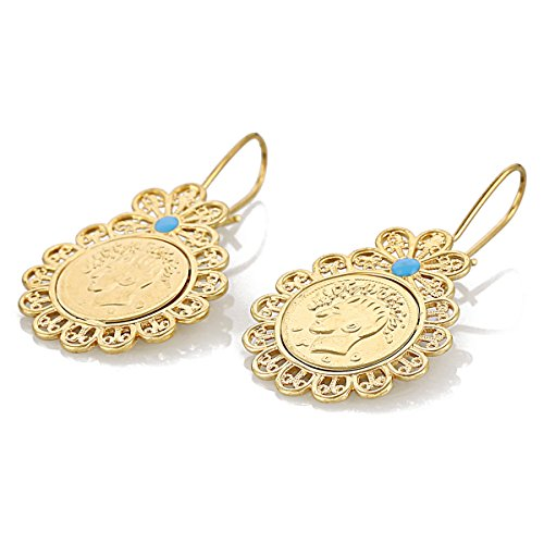 Iran Coin Earrings Gold Color Jewelry Earring Iranians Arab Coins Middle East Jewelry