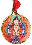 BUDDHAFIGUREN Amuleto budista - Chenresig con Kalachakra 3 cm de alto