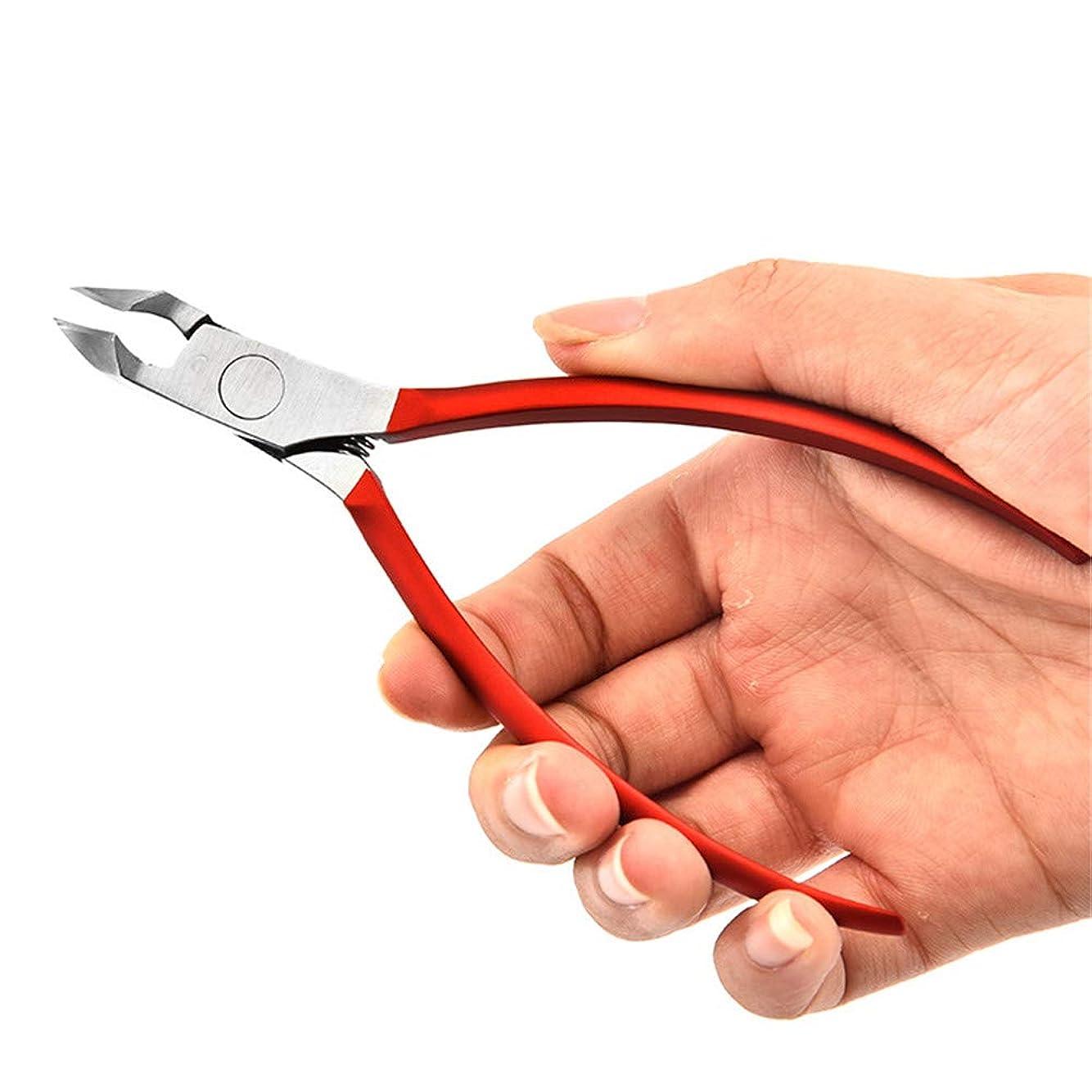 カフェテリアバンジージャンプ航海の精密足の爪切り ステンレススチールネイルトゥナリクリッパーズニーハースシザーズカッター、厚く入り込んだトウネイルヘビーデューティー 厚くまたは陥入した足指の爪に