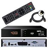 HD Sat Receiver Nokta 6110 (USB, HDMI, Scart, Digital Audio Out, Full HDTV, DVB-S2) + GRATIS HDMI Kabel - netshop25 Set