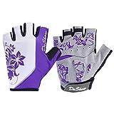 DuShow Cycling Gloves Women Half Finger Gel Padded Bike Gloves Anti-Slip Shock-Absorbing Fingerless...