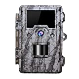 OUDMON Trail Game Camera, 16MP 1080P Hunting Cam for Wildlife with Night Vision Motion Activated and No Glow IR LEDs, Waterproof IP67