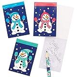 Baker Ross AX438 Schneemann Weihnachten Notizblöcke - 12 Stück, Festliche Künstler- und Bastelbedarf zum Basteln und Dekorieren zur Weihnachtszeit