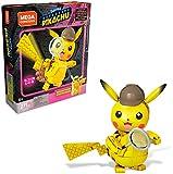 Mega Construx Detective Pikachu Figura construible, Juguete de Construcción de la Película para Niños +8 Años (Mattel GGK28)
