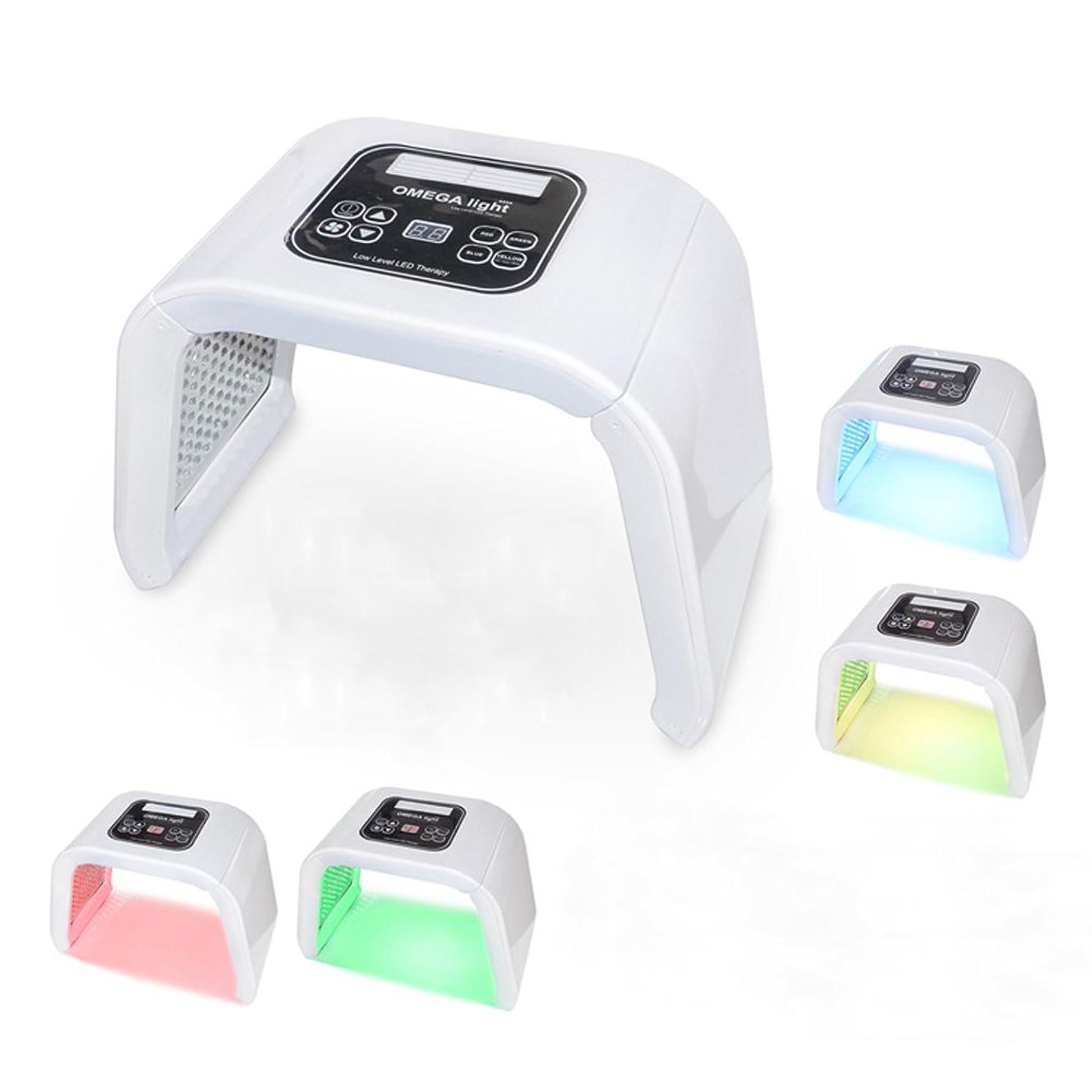 小競り合いオアシス旅光子の若返り機械携帯用4色LEDの反老化の美の器械,White