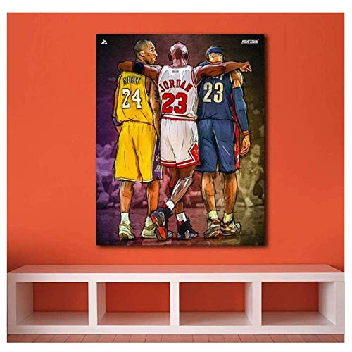 Art Poster 40x50cm Senza corniceArt Michael Jordan Kobe Bryant Lebron James Nuovo Dipinto NBA per Soggiorno Decorativo per la casa