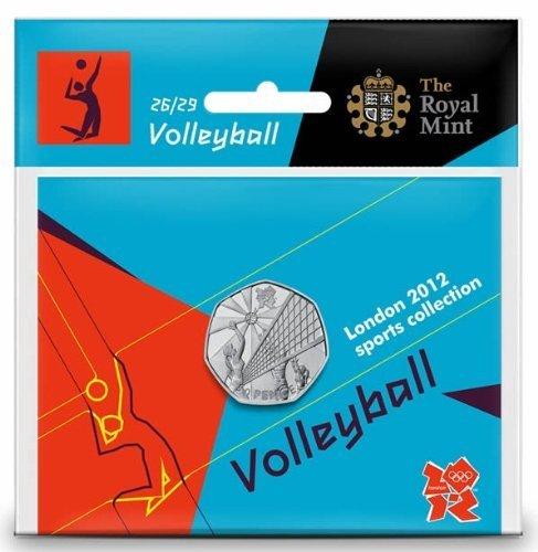 Royal Mint London 2012 50p Sports Collection - Balón de Voleibol