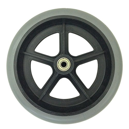 NEW 200mm 8' GREY RUBBER SMALL NON MARKING WHEELCHAIR WHEEL CHAIR REPLACEMENT 20cm