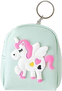 fdfa057270 Monedero de Unicornio para Mujer y niña Billetera de Piel sintética con  Cremallera con