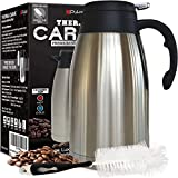 Thermal Coffee Carafe Stainless Steel - Heavy Duty, 24hr Lab Tested Heat Retention, 2 Liter 68oz...
