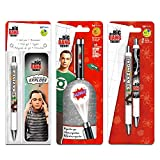 The Big Bang Theory Inkworks Pen Super Set - 4 Deluxe Pens with Bookmark (Big Bang Theory Office Supplies, Merchandise)