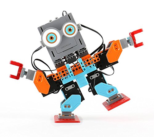 UBTECH JR0602 Jimu Robot BuzzBot & MuttBot - App Enabled STEM Learning Robotic Building Block Kit