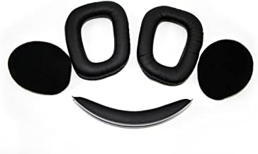 Replacement Earpad Top Headband Ear Pads Cushion Kit Compatible with Logitech G930 Wireless Gaming Headset.(G930 Headband + Earpad)