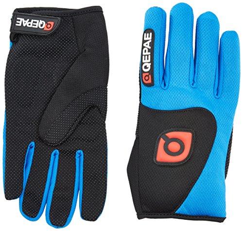 QEPAE ® Guantes de gel antideslizantes para hombre, para mujer, transpirable, talla M, color azul
