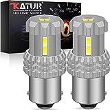 KaTur 1156 BA15S 1141 7506 P21W LED Lampadine 12 pezzi 3020SMD Chipset 2800 Lumen Utilizzati per luce di retromarcia, luce posteriore, luce freno, 6500K Xenon White (confezione da 2)