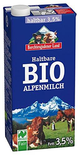 Berchtesgadener Land Haltbare Bio-Alpenmilch 3,5%, 1 l