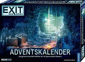 KOSMOS 693206 EXIT - Das Spiel Adventskalender 2020 Die geheimnisvolle Eishöhle, mit 24 spannenden Rätseln ab 10 Jahre,...