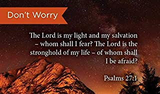 Pass Along Pocket Scripture Cards, Don't Worry, Psalms 27:1, Pack of 25
