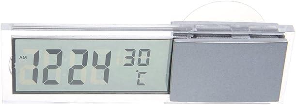 A0127 - Reloj digital para coche con pantalla LCD 2 en 1 y termómetro con ventosa