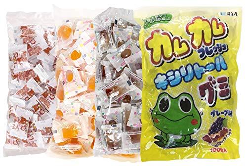 キシリトールグミ (カムカムフレッシュ + リラックマ + みかん + キシリコーラ) 各大袋1袋(100粒入)セット 合計4袋
