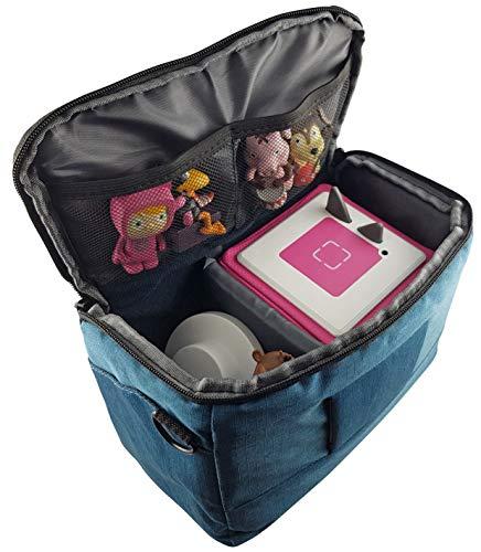 Transport-Tasche für Musikboxen Musikwürfel mit Schultergurt - z.B. geeignet für Toniebox und Tigerbox Touch - BLAU - Transport Tasche Reisetasche Box Koffer Case Aufbewahrung - MIND CARE ESSENTIALS
