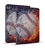 iPad Mini 5 Case, Mini 4 Case, iPad Mini 1/2/3 Case, Protective Leather Case, Adjustable Stand Auto Wake/Sleep Smart Case for iPad Mini 5th/4th Gen 7.9 inch - Burning Baseball Fire and Water