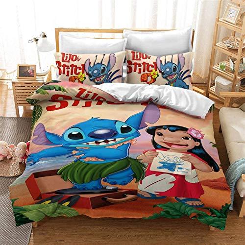 Conjunto de ropa de cama 3D cubierta de edredón, Conjunto de ropa de cama 3D - 3 piezas Anime Impreso Niño Niños para adultos Funda de edición Regalo para adolescentes Chicas (cubierta de colcha + fun