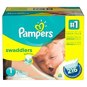 Pampers Swaddlers Size 1  12 Packs of 20 = 240 count