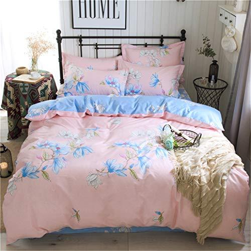 GHL.YTE 3/4Pcs/Set Avocado Pattern Cotton Comforter Bedding Set Bed Linen Duvet Cover Set Green No Filler Home Textile ANYI-031 Flat Bed Sheet 2.0m