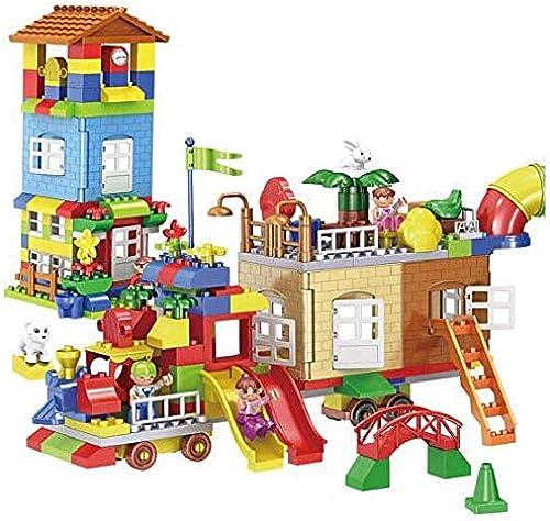 CHAIZIYU Bausteine Spielzeug Größe Partikel Bausteine Kinder Spielzeuge Baby-Montage BAU dreidimensionalen EinStückkunststoff Meine Welt-Jungen und mädchen 3-6 Jahre alt 239 F er
