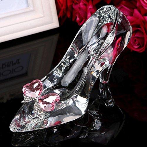 DFGER Figuras de Tacones Transparentes, Zapatillas de Cristal, Zapatos de Bowknot de...
