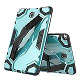 Weichunya Para Samsung Galaxy Tab A 8.0 pulgadas SM-T350 (versión 2015) Caja de tableta a prueba de golpes de defensa de armadura híbrida para servicio pesado con soporte plegable Correa de mano Cubie