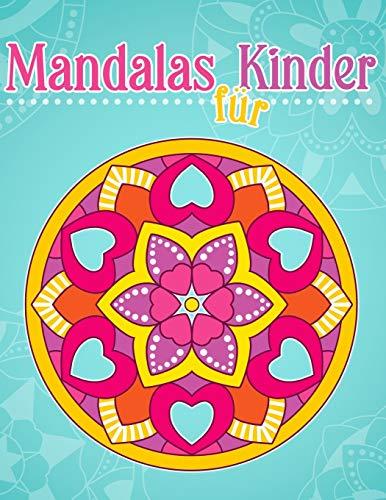 Mandalas für Kinder: Malbuch mit einfachen Mandala-Mustern.