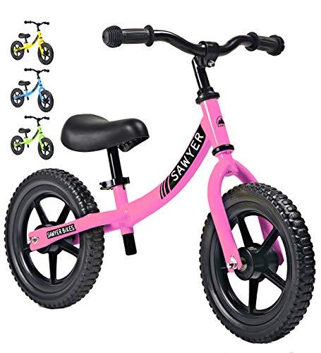 Sawyer - Bicicleta Sin Pedales Ultraligera - Niños 2, 3, 4 y 5 Años (Rosa)