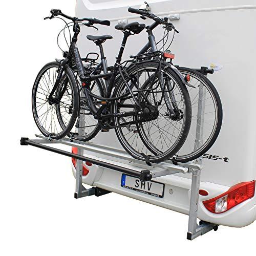 SMV-Metall GmbH Fahrradträger Wohnmobil hochklappbar für 2 Räder/E-Bikes