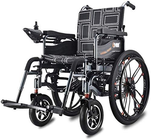 Silla de ruedas eléctrica plegable Silla de ruedas eléctrica de lujo para ancianos discapacitados Silla eléctrica plegable ligera motorizada Silla eléctrica plegable para llevar Scooter Ancho del asie