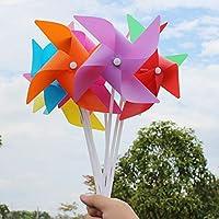 風車玩具 DIYキット 半完成 花風車 自己組み立て 手芸 おもちゃ 贈り物 全100枚セット 8カラー - ロジー