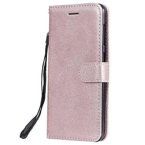 ViViKaya Funda para Xiaomi Redmi Note7/Xiaomi Redmi Note7 Pro, Premium PU Cuero Billetera Funda Ultra Delgado Protectora Carcasa con Concha Interna Suave [Oro Rosa]