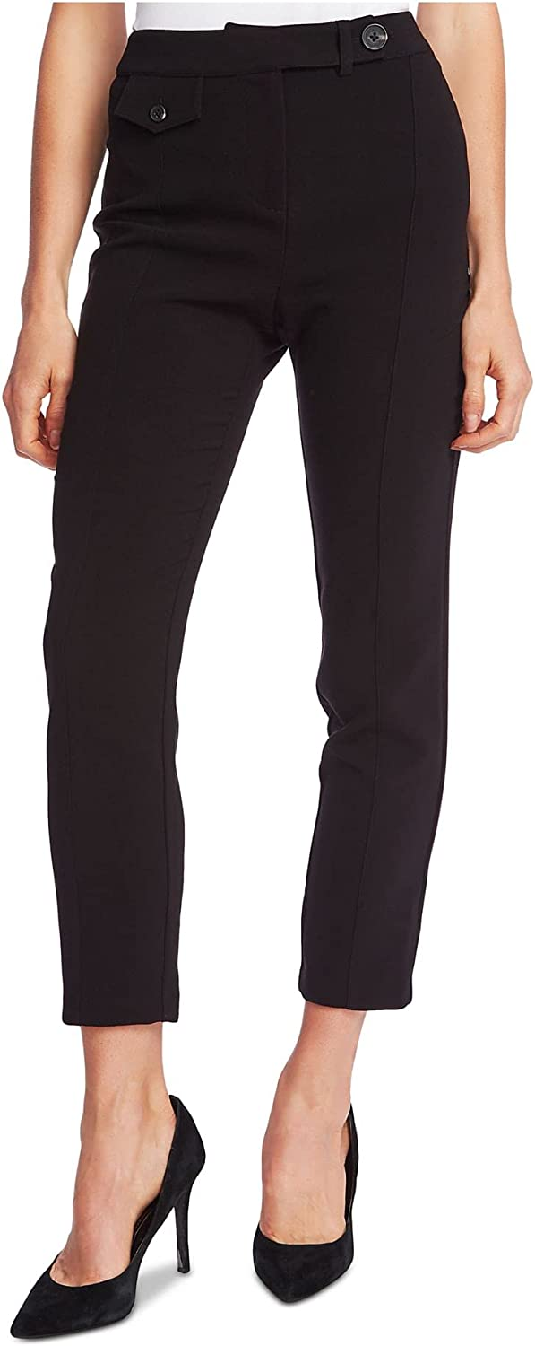 CeCe Womens Black Pocketed Wear to Work Pants Size 6