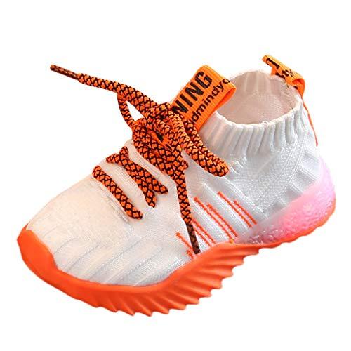 catmoew Kinder Sneaker Kleinkind Baby Turnschuhe Mesh LED Licht Leuchtend Sportschuhe Kinder Jungen Schuhe Bunte leuchtende Schuhe Laufschuhe Kinder Schuhe kaufen günstig Schuhe