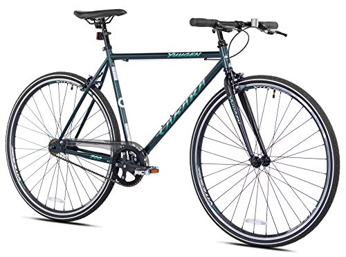 Takara Yuugen Single Speed Flat Bar Fixie Road Bike, 700c, Medium, Green