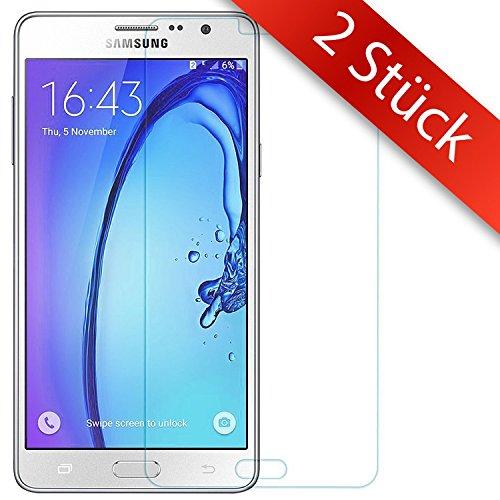 Movoja 2 STÜCK - ON5 Schutzfolie Bildschirm-Schutz-Glas - | 0.2mm | Blasenfrei | Full HD Transparenz | Anti Fingerabdruck - Samsung Galaxy ON5 Bildschirmschutzfolie Glas ON5