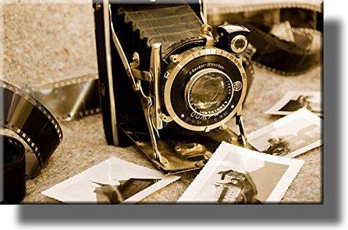 Auf Holz: Vintage Foto Kamera Bild, auf Holz, Wand Art Decor, fertig zum Aufhängen.