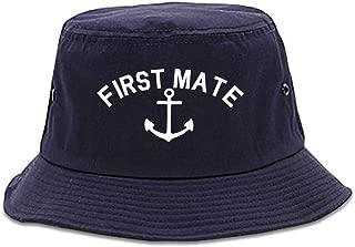 Sailing First Mate Anchor Mens Bucket Hat Cap
