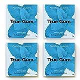 True Gum True Gum 4er SET STRONG MINT | Plastikfreier Kaugummi | Biologisch Abbaubar | Vegan | 4 x 21g, 84 g