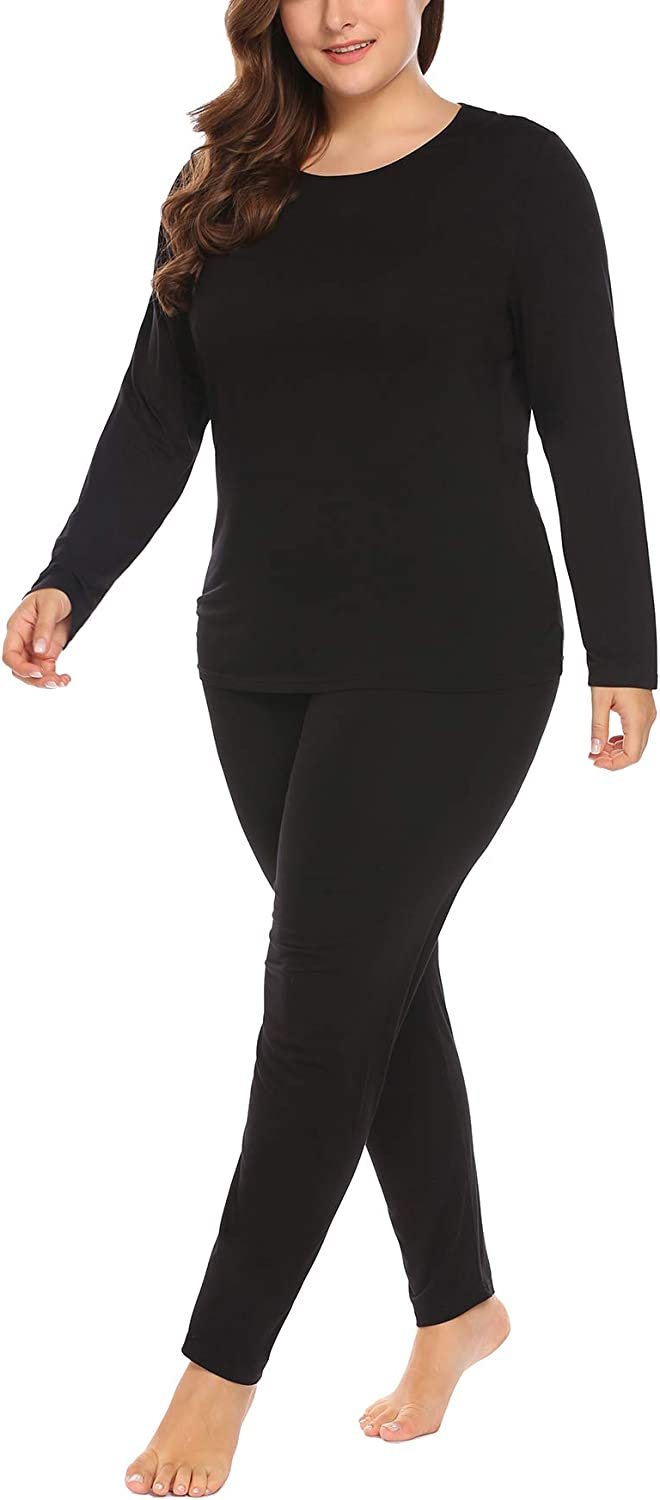 IN'VOLAND Women's Plus Size Long Johns Base Limited Special Price 2 Pcs Japan Maker New Laye Sets