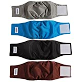 vecomfy Washable Belly Bands for Male Dogs 4 Pack,Premium Reusable Small Dog Wrap Leakproof Puppy Diapers,XS