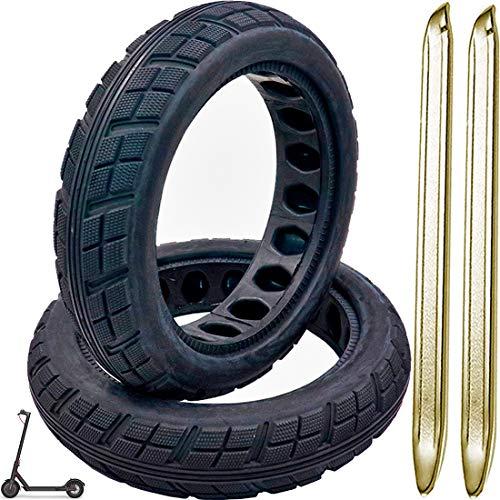 AllRiders - Pack de pegatinas + palancas + tuercas + tornillos + neumáticos de 8,5 pulgadas alveolados elevables, goma tender patinete eléctrico Xiaomi M365